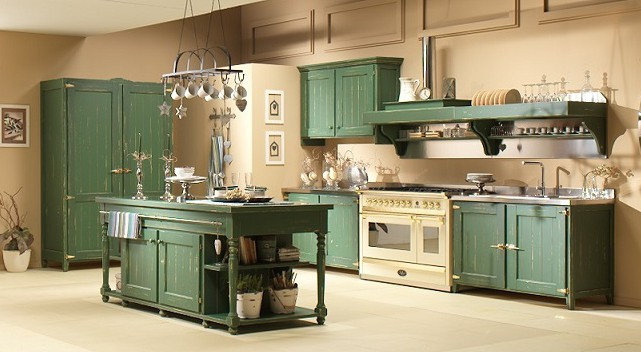 Cucina country old italy garnero design - Cucina country verde ...