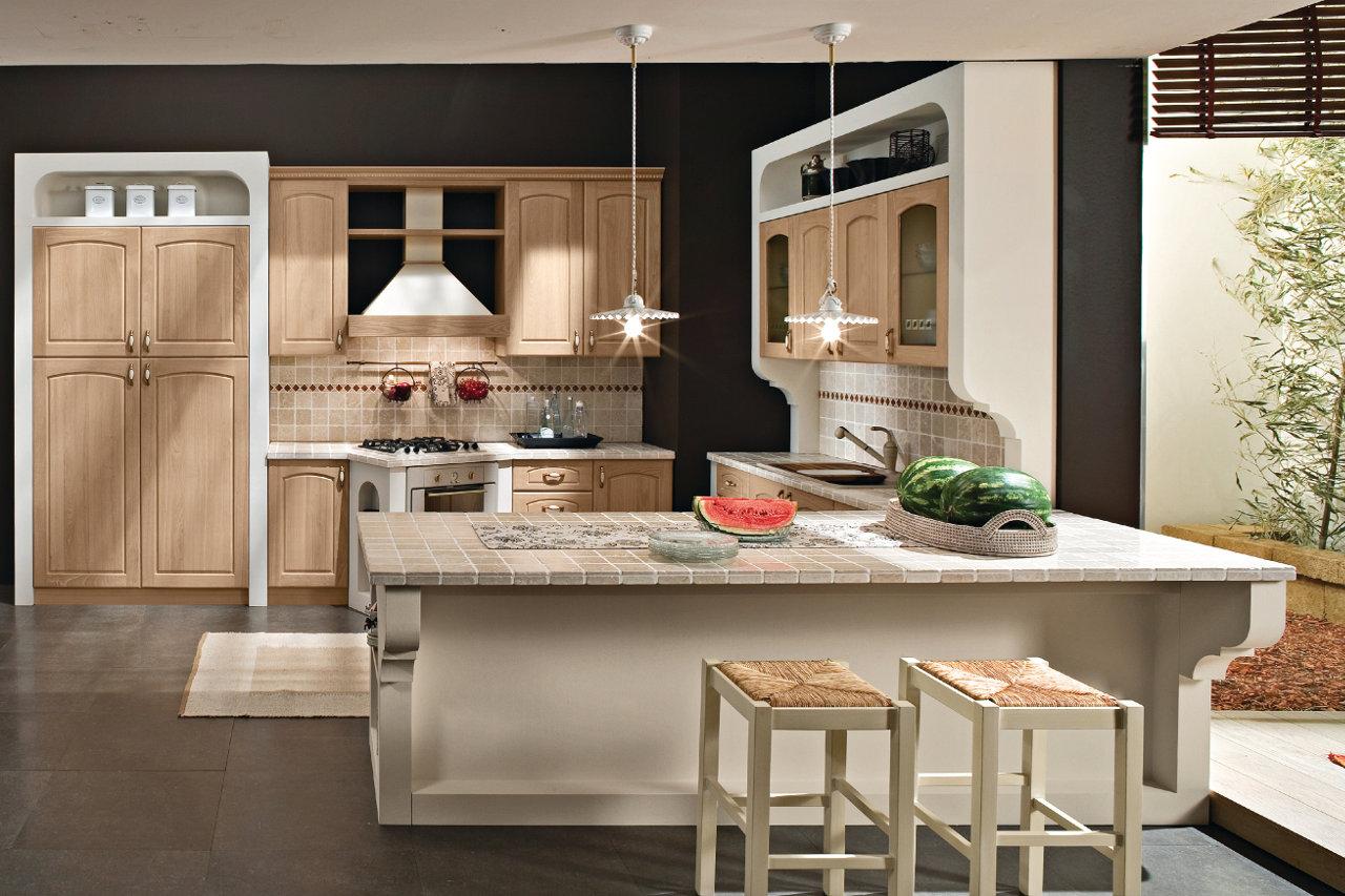 Cucina finta muratura Clarissa -Garnero design