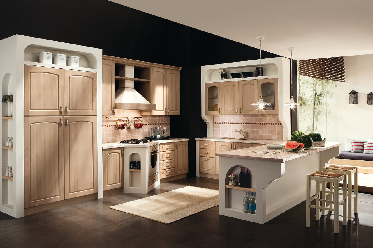 cucina-finta-muratura -Garnero design