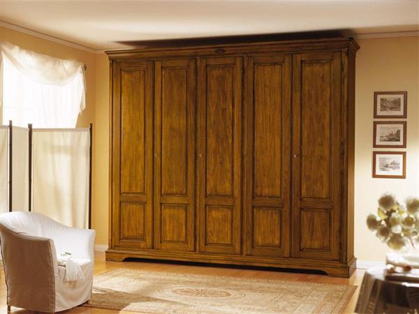 Armadio classico legno massello -Garnero design