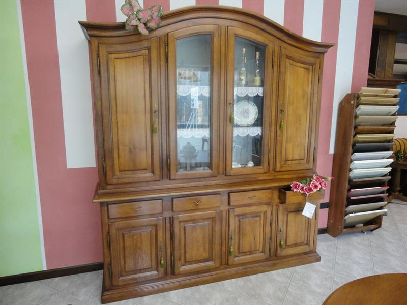 Credenza Con Vetrina Grezza : Credenza classica legno massello cheap in