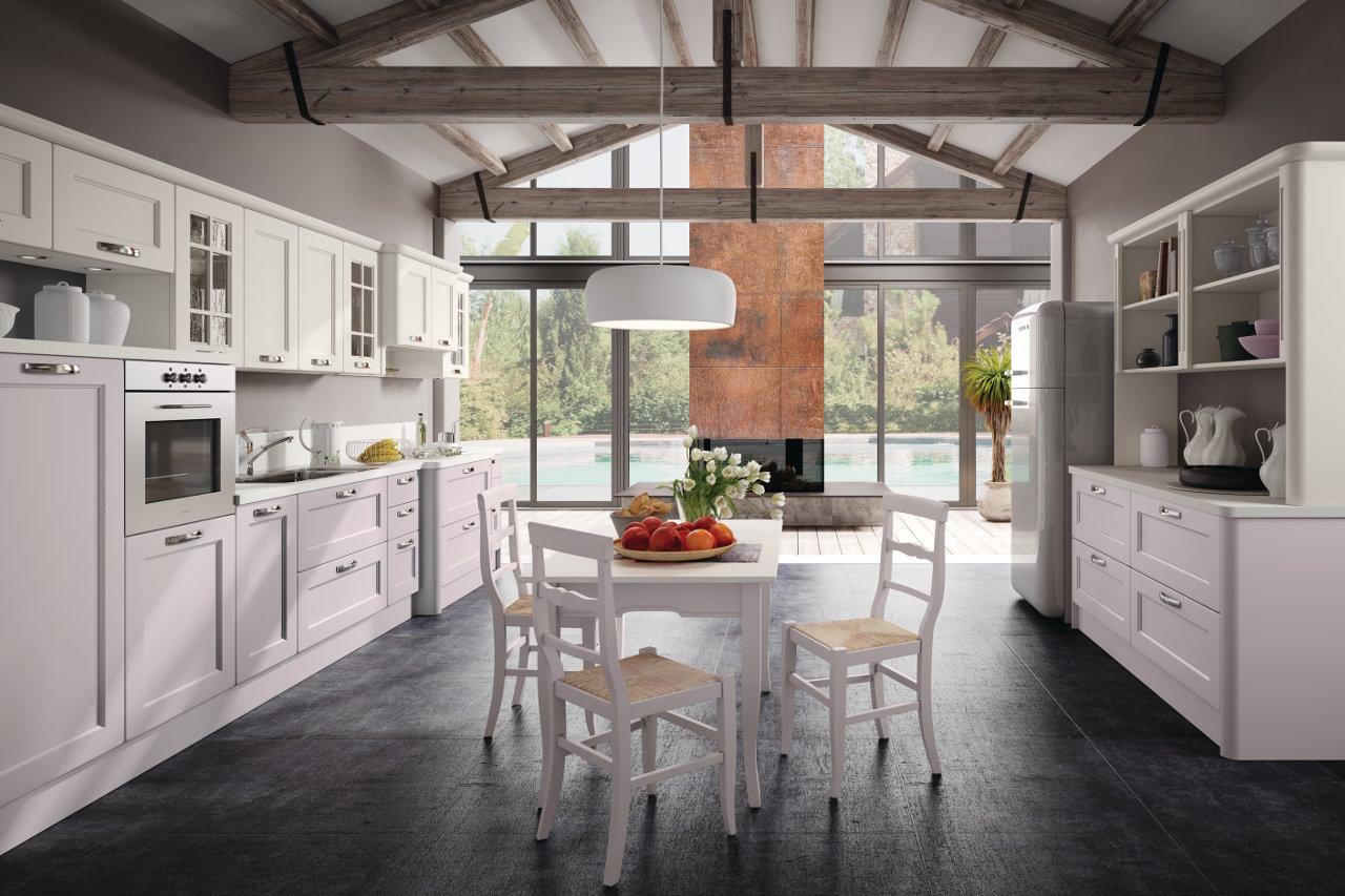 Beautiful cucina provenzale bianca images ideas design - Cucina laccata bianca ...