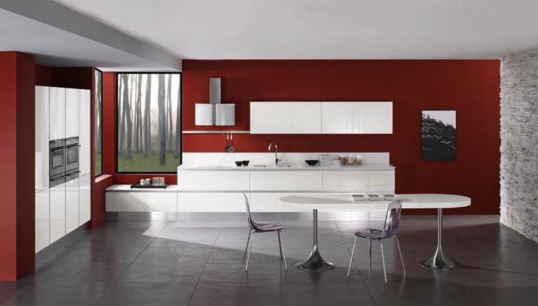 Cucina mirror con ante in vetro garnero design - Ante in vetro cucina ...