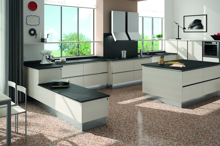 Cucina Moderna con Isola Cooney -Garnero design