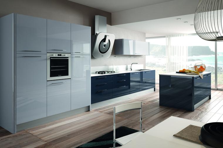 Cucina moderna isola lucida geo garnero design - Liquidazione cucine ...