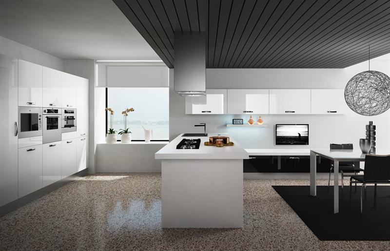Cucina moderna lucida bleecker garnero design - Liquidazione cucine ...