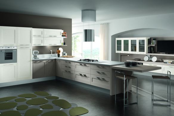 Cucina brooklyn in rovere garnero design for Sme arredamenti