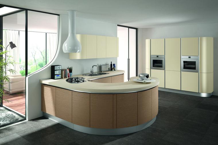 Cucina moderna rotonda sfera garnero design - Liquidazione cucine ...