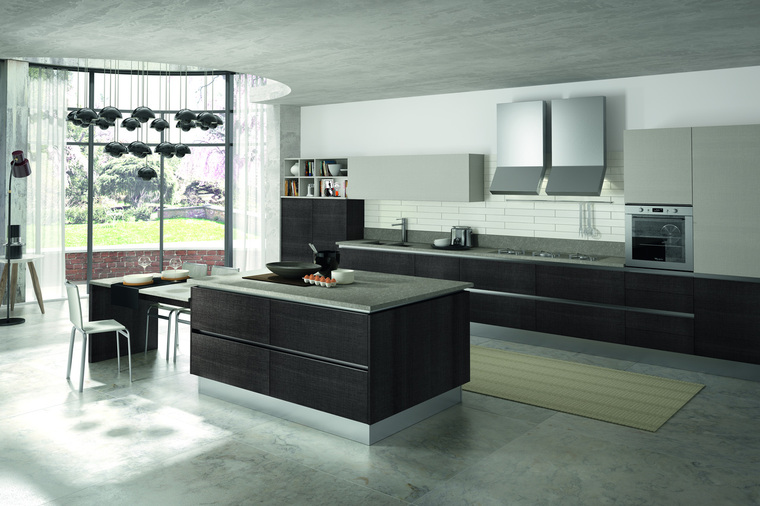 Cucine Moderne Con Open Space.Cucina Open Space In Tranche Lincoln Garnero Design