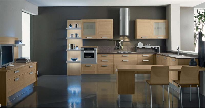 Cucina moderna in rovere \