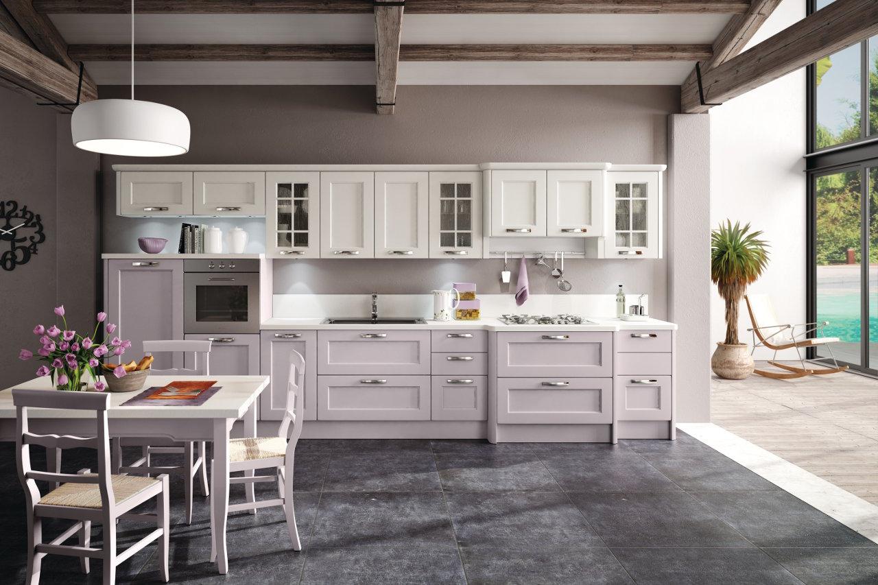 Cucina laccata bianca casale garnero design - Cucina provenzale bianca ...