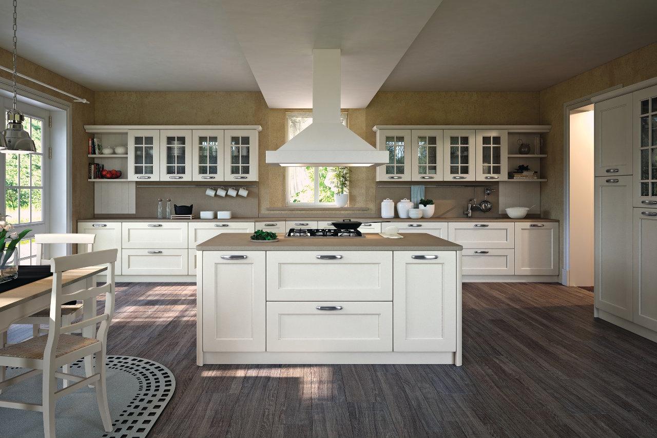 Cucina laccata bianca \