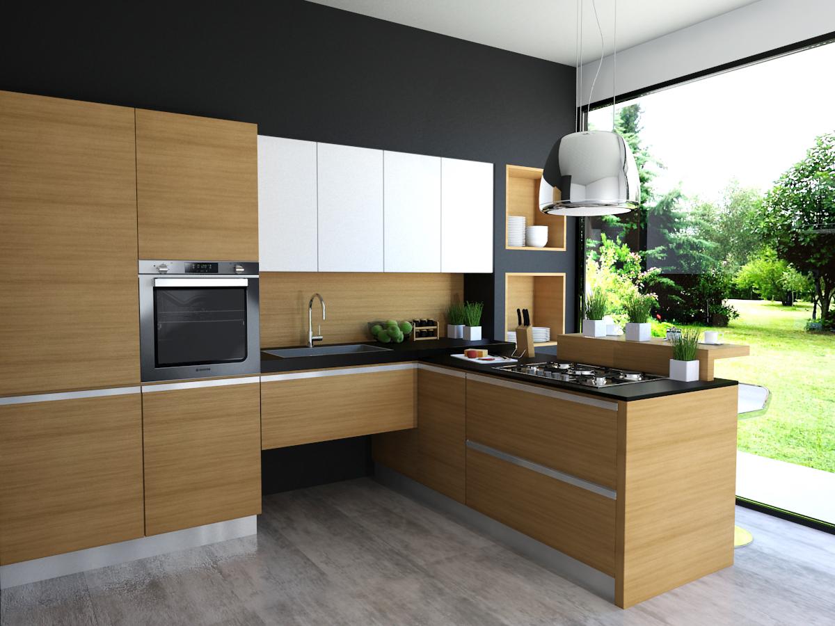 Cucina Moderna Legno Massello -Garnero design