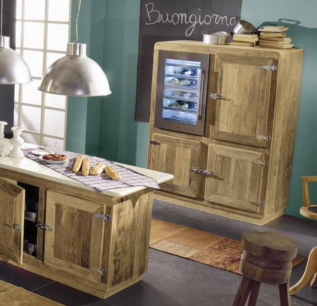 Preferenza Cucine in legno naturale CharmeyGarnero design CV22