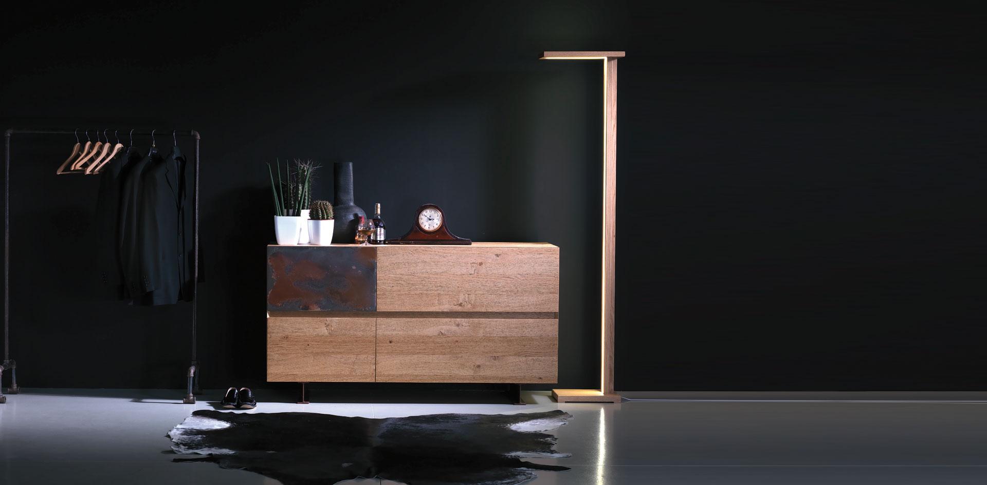Credenza Steel-Wood