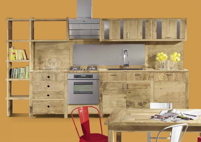 Cucine in legno Naturale Emma -Garnero design