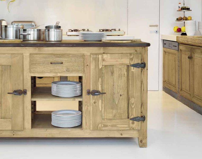 Cucine in legno Naturale Cloe -Garnero design