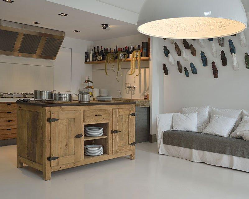 Cucine in legno naturale cloe garnero design - Mobili legno naturale ...