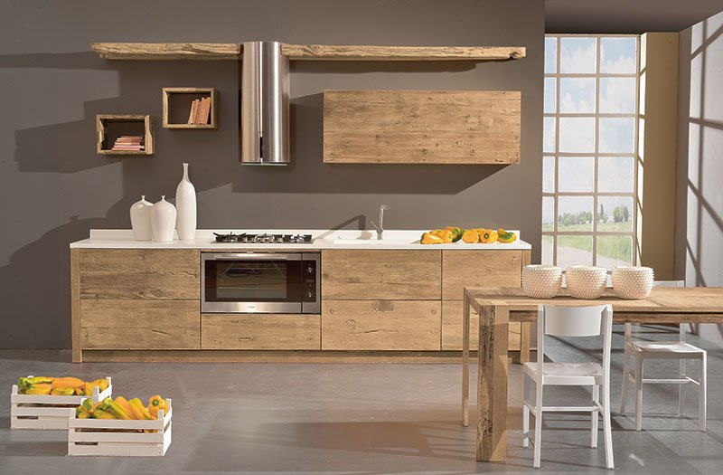Awesome Cucine Moderne In Legno Naturale Ideas - Comads897 ...
