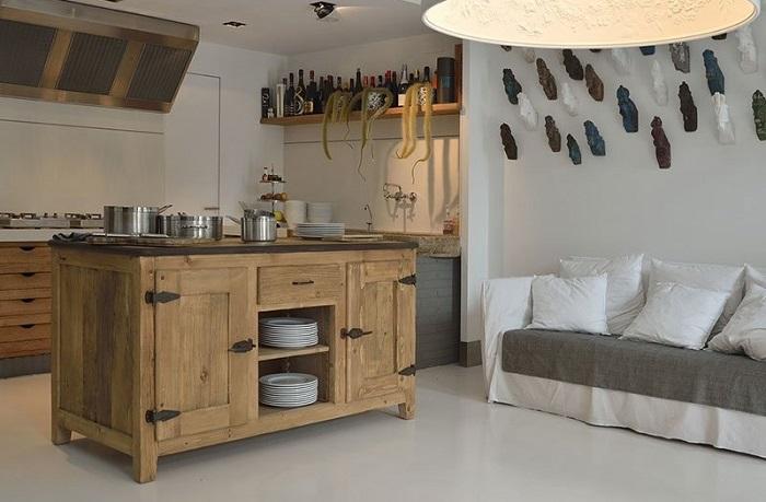Cucina legno vecchio garnero design - Liquidazione cucine ...