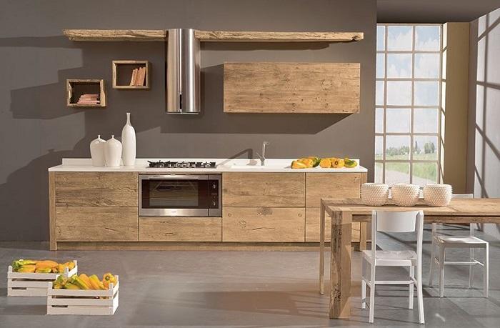 Cucina moderna legno naturale garnero design - Mobili cucina moderna ...