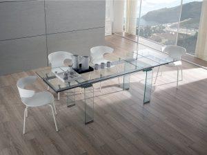 Tavoli in vetro all-glass
